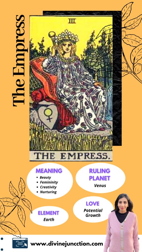 empress tarot card infographic